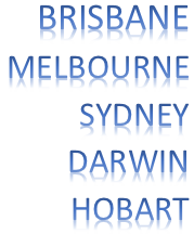 Brisbane, Melbourne, Darwin, Sydney, Hobart Removalists
