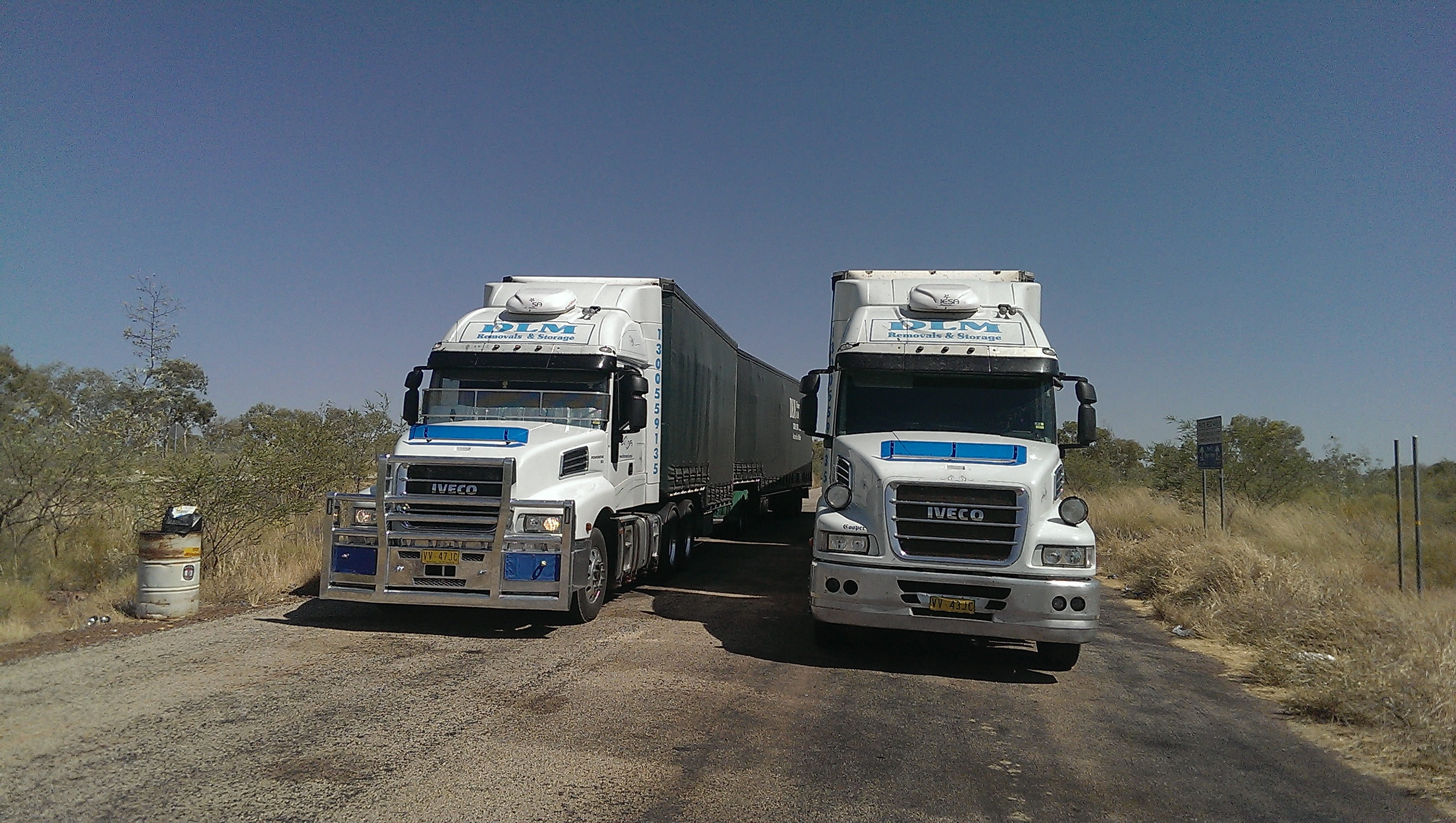 DLM Removals B-Double trucks